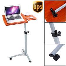 Laptop Desk Wheels by Ups Adjustable Laptop Notebook Desk Table Stand Holder Swivel Home