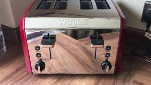 Waring Toasters Review Of Waring 4 Slice Toaster Metallic Red Youtube