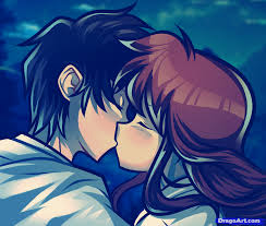 imagenes anime kiss how to draw a valentines couple anime kiss step by step