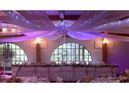 tenture plafond mariage tenture en organza géante pour décoration mariage