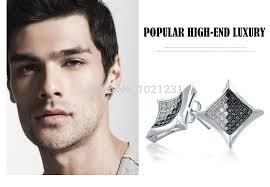 ear stud men 48 kite earrings men mens yellow gold silver micro pave cz hip