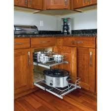 Kitchen Cabinet Shelf Organizer Slide A Shelf Made To Fit 12 In To 24 In Wide Double Dektm Slide