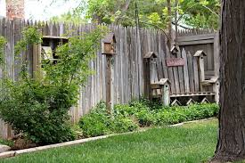 fence decor ideas outdoor beautiful outdoor fence decor