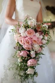 Wedding Flowers Pink Stunning Cascading Pink Rose Bridal Bouquet Pictures Photos And