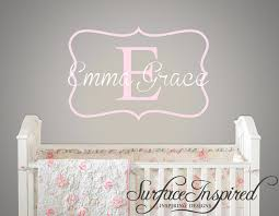 Monogram Wall Decals For Nursery Name Wall Decal Nursery Wall Decal For Baby Nursery Framed