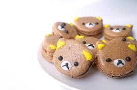 rilakkuma mocha macarons sumopocky handcrafted bakes