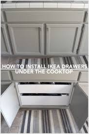 how to install ikea kitchen cabinet drawers how to install drawer pullouts a cooktop ikea