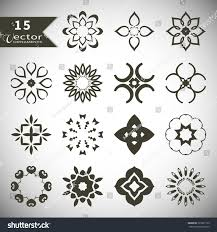 vector ornaments collection logo icon stock vector 325691132