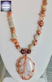 necklace designs with crystals images Moonstone and sunstone wire wrapped with swarovski crystals jpg