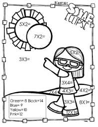 Solar Eclipse Multiplication Coloring Pages By Aj Bergs Tpt Multiplication Coloring Page