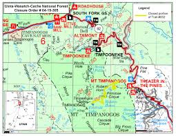 Map Of Provo Utah Uinta Wasatch Cache National Forest News U0026 Events