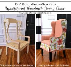 How To Make A Wing Chair Slipcover Diy Upholstered Wingback Dining Chair U2013 Finished How To
