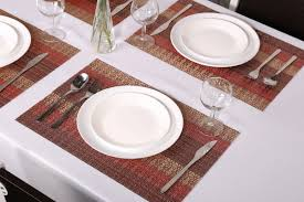 amazon com sicohome placemats set of 6 soft crossweave woven amazon com sicohome placemats set of 6 soft crossweave woven vinyl placemat multi colored red home kitchen