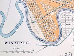 Winnipeg Canada Map by 1915 Large Antique Street Map Of Winnipeg Manitoba Canada