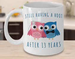 13th anniversary gifts for him 13 years together etsy