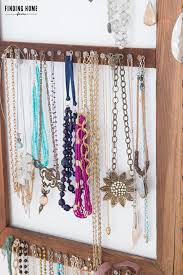 diy necklace vintage images Diy vintage jewelry storage organizer redoing our bedroom jpg