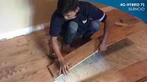 Lamett Laminate Flooring Reviews Waterproof Laminate 4g Hybrid 7 Silencio Series Youtube