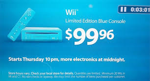 black friday wii 2017 walmart selling limited edition blue wii for 99 96 on black friday