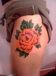flower tattoo on hip black tattoo with flowers on hip