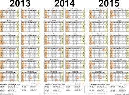 printable calendar year 2015 2013 2014 2015 calendar 2 three year printable pdf calendars