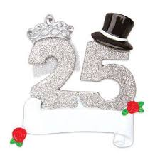 25th wedding anniversary ornament store