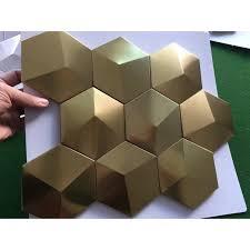 stainless kitchen backsplash metal mosaic tile stainless steel tile pyramid patterns kitchen