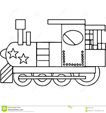 train kids coloring pages geometrical figures stock illustration