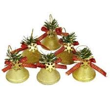 kraftz tree decor shatterproof gold jingle bells