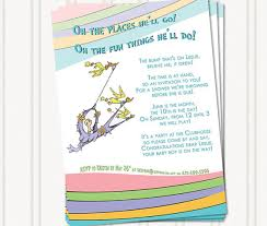 oh baby the places you ll go printable dr seuss baby shower invitations for one baby or