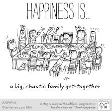 a chaotic family get together i each time we are all able