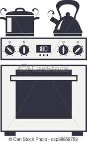 clipart cuisine cuisine vecteur électrique four icône électrique clipart