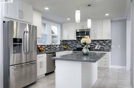 Kitchen Cabinets Oakland Ca Kitchen With Pendant Light U0026 Flat Panel Cabinets In Oakland Ca
