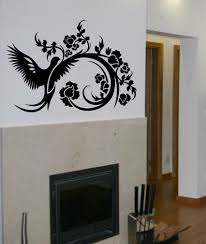 decorating fine wall decals to beautify walls of your home cool black wall decal