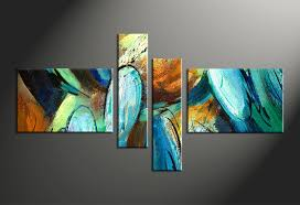4 piece colorful oil paintings abstract modern canvas art