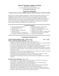 Team Manager Resume Sample by Qa Manager Resume Quality Manager Resume Aviation Resum Quality