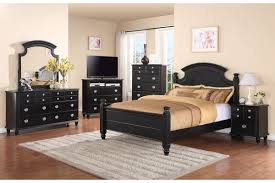 black high gloss polished mahogany wood king size bed combined