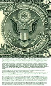 facts one dollar close up presidential seal and meaning