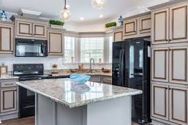 gray kitchen cabinets with black appliances 12 beautiful manufactured homes with black appliances