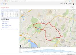 Google Maps Running Route by Google Location Tracking Ryan Hellyer
