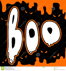 boo happy halloween card comic style stock image image 33722531