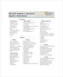 free wedding registry gifts 5 baby gift registry checklists free sle exle format
