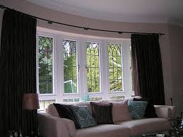 bay window curtains styles