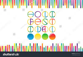 holika color transition vector lettering trendy stock vector