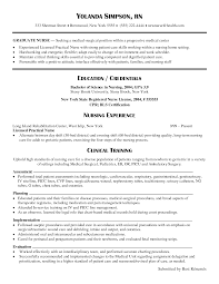 Sample Resume Objectives For Radiologic Technologist by Registered Nurse Resume Samples Resume For Your Job Application