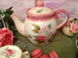 shabby chic roses are great finds at the thrift store for maisonvogue