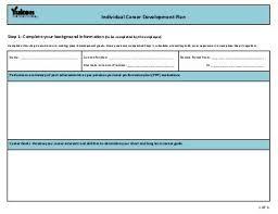 career development plans individual development plan idp trainee name smith