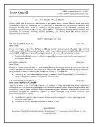 contemporary restaurant kitchen resume templates cv example job