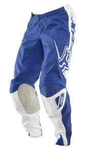 yamaha motocross gear fox motocross pants yamaha blue size 30 bargain bike bits