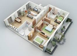 floor plan for 3 bedroom house excellent simple house plan with 5 bedrooms 3d gallery best