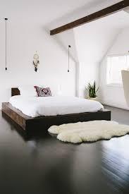 Modern Bed Frames Minimalist Bedroom With Wooden Modern Bed Frame Choosing A